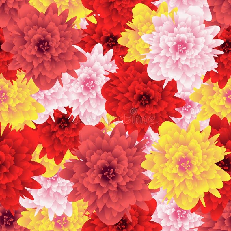 Fleur sans joint de configuration Fond pour des tissus, textiles, papier illustration libre de droits