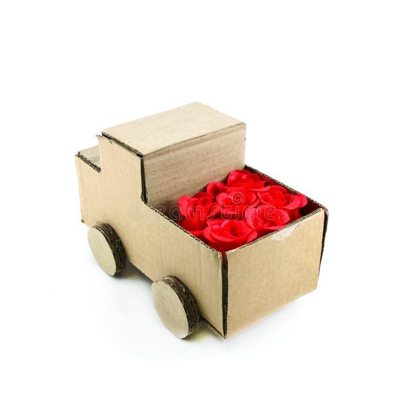 Fleur sur le camion images stock