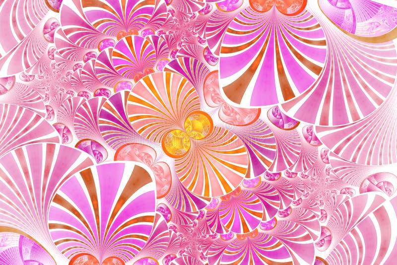 Fleur sym?trique color?e de fractale Illustration de Digital pour la conception graphique cr?ative Configuration florale illustration de vecteur