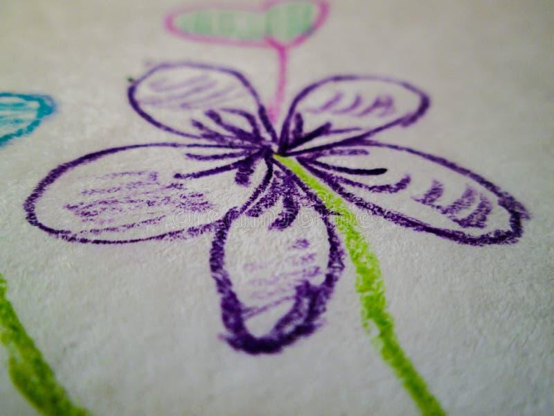 Fleur tirée photographie stock
