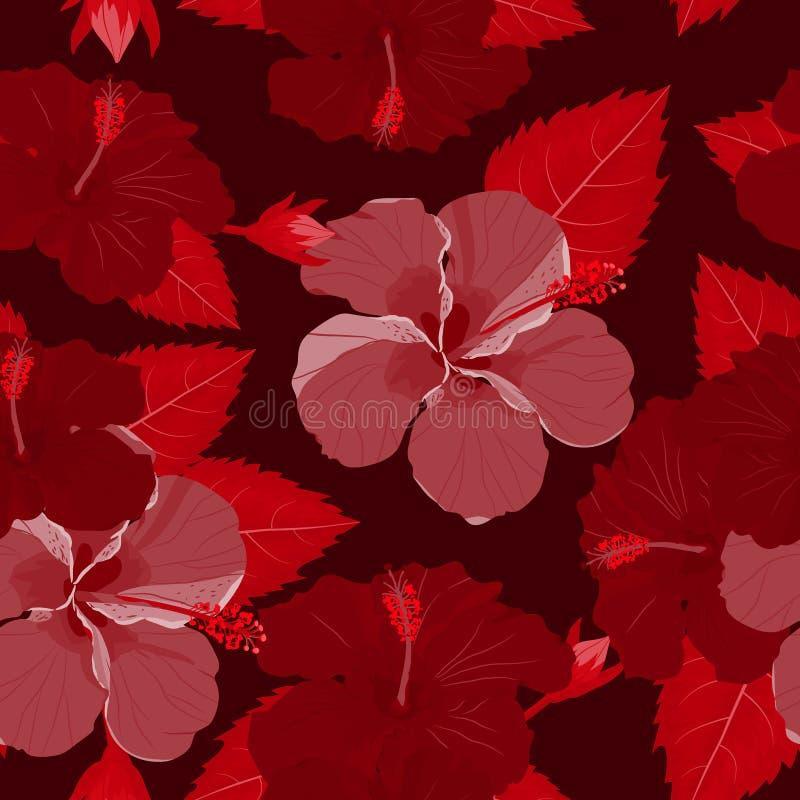 Fleur tropicale sans couture, fond de mod?le de vecteur d'usine illustration stock