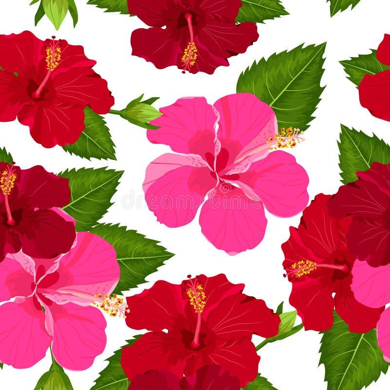 Fleur tropicale sans couture, fond de mod?le de vecteur d'usine illustration de vecteur