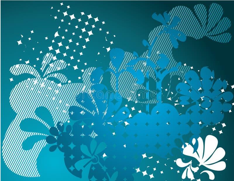 Fleuri bleu   illustration libre de droits