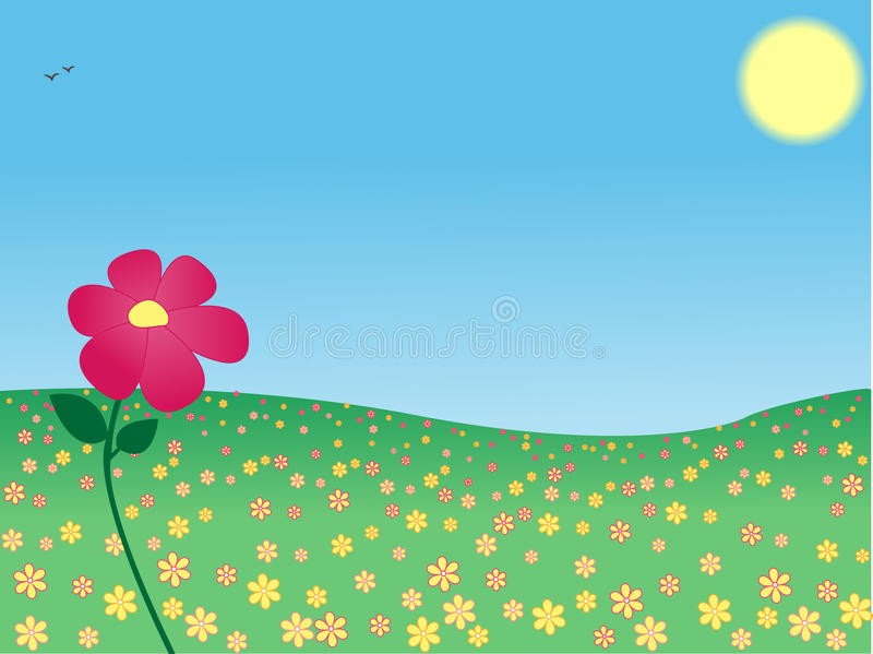 Fleurissez dans le pré illustration stock
