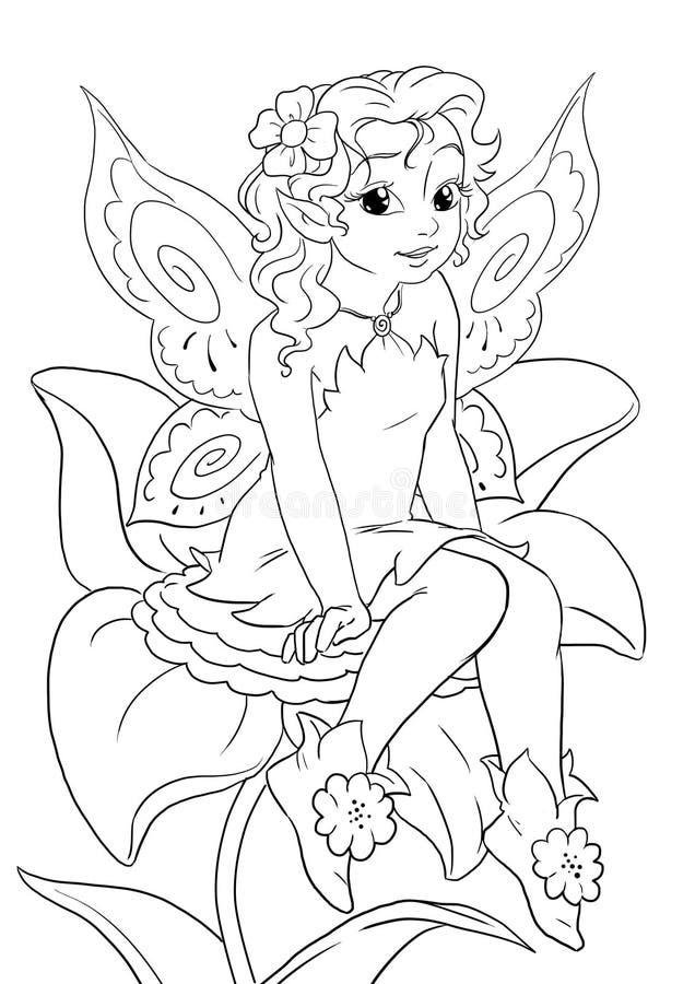 Fleurissez la fée illustration stock