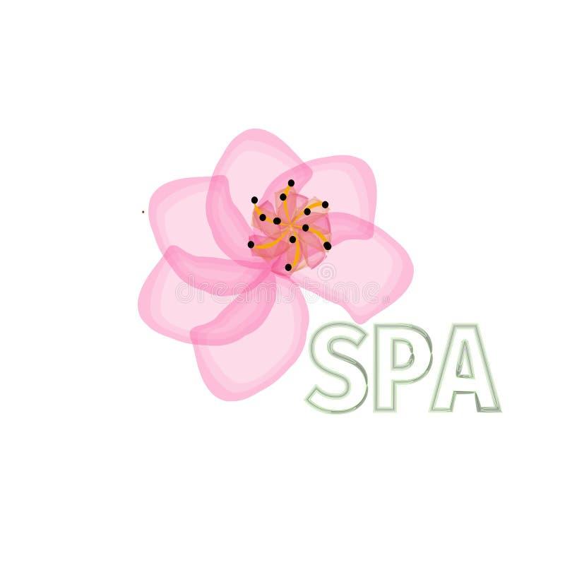 Fleurissez la marque abstraite de cosmétiques de salon de station thermale de beauté de logo calibre de luxe de mode de conceptio illustration libre de droits