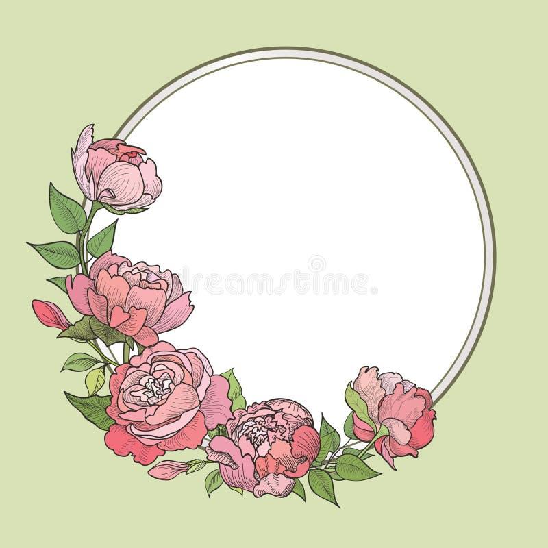 Fleurissez la trame Fond floral de cru illustration stock