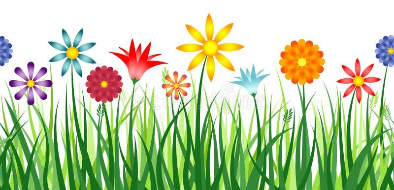 Fleurissez le cadre illustration de vecteur