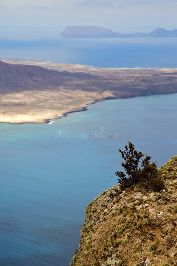 fleurissez le ciel de pierre de roche de port de Rio de del de l'Espagne Miramar image libre de droits