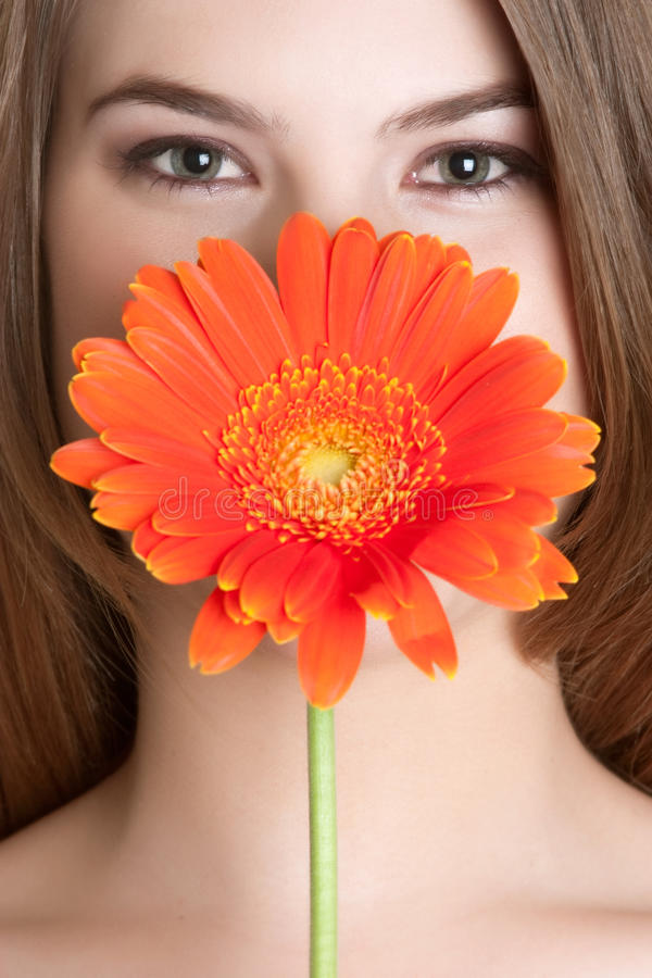 Fleurissez le femme image libre de droits