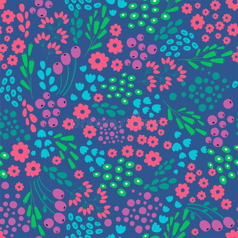 Fleurissez le modèle sans couture abstrait, texture, fond Conception de vecteur illustration stock