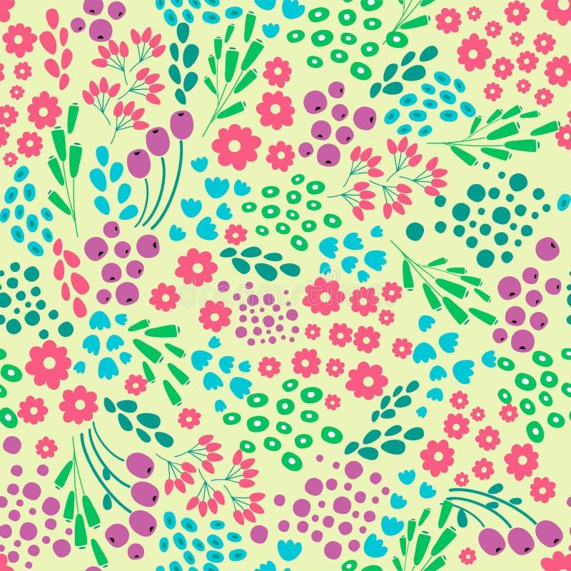 Fleurissez le modèle sans couture abstrait, texture, fond Conception de vecteur illustration de vecteur