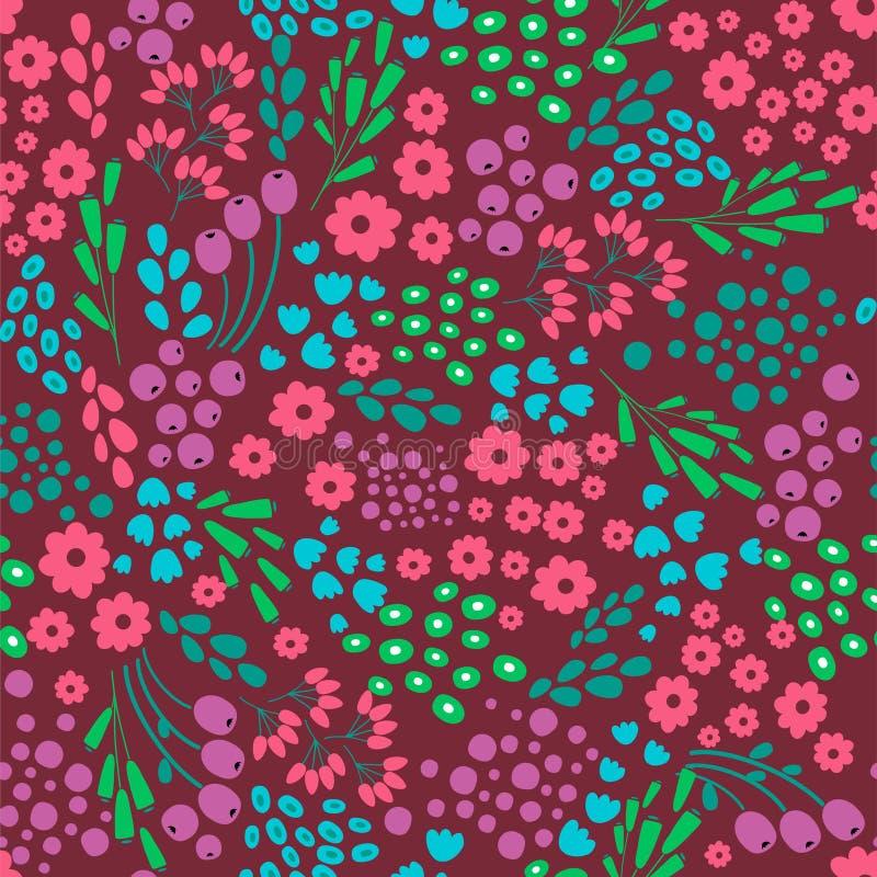 Fleurissez le modèle sans couture abstrait, texture, fond Conception de vecteur illustration libre de droits