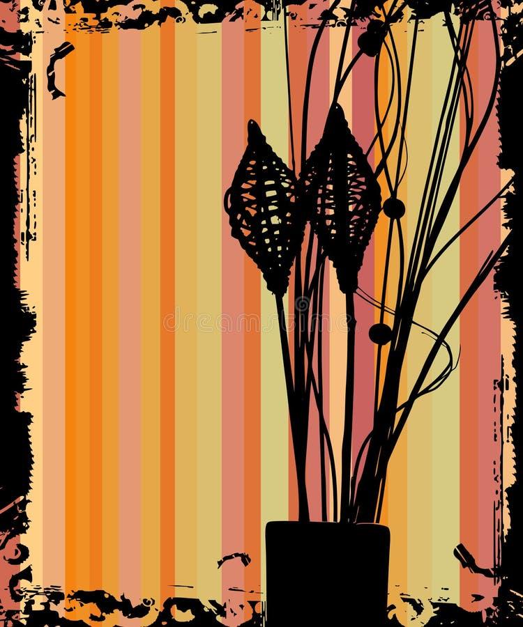 Fleurissez le rétro fond grunge illustration stock