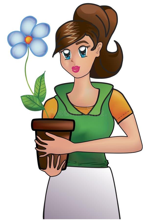 Fleuriste illustration de vecteur