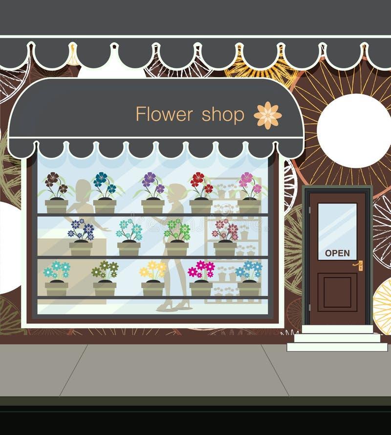 Fleuriste. illustration stock