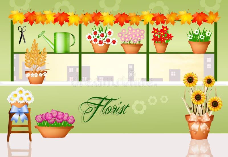 Fleuriste illustration libre de droits