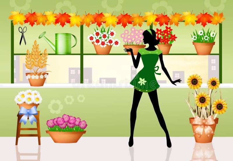 Fleuriste illustration stock