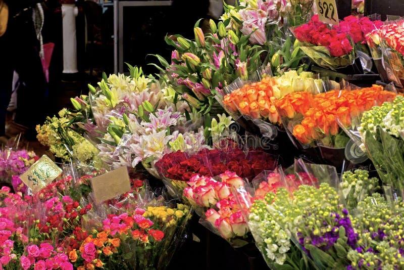 Fleuriste du marché image libre de droits