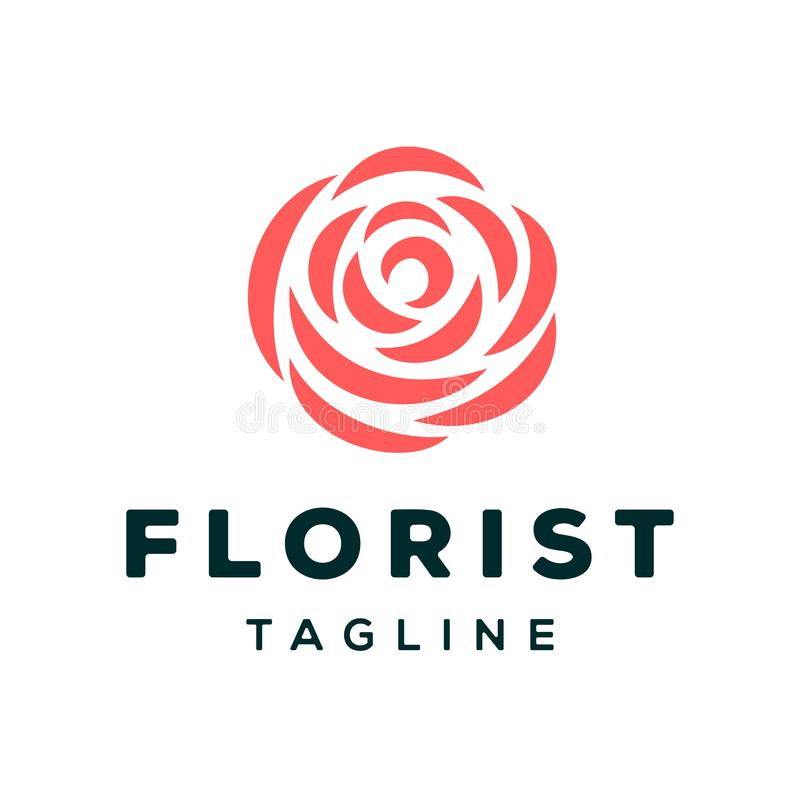 Fleuriste Logo Vector Design Template illustration de vecteur