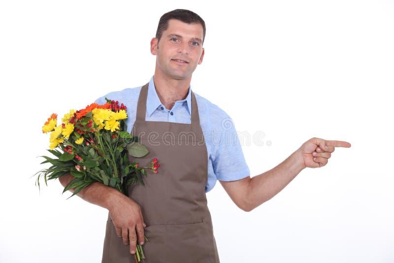 Fleuriste masculin photos libres de droits
