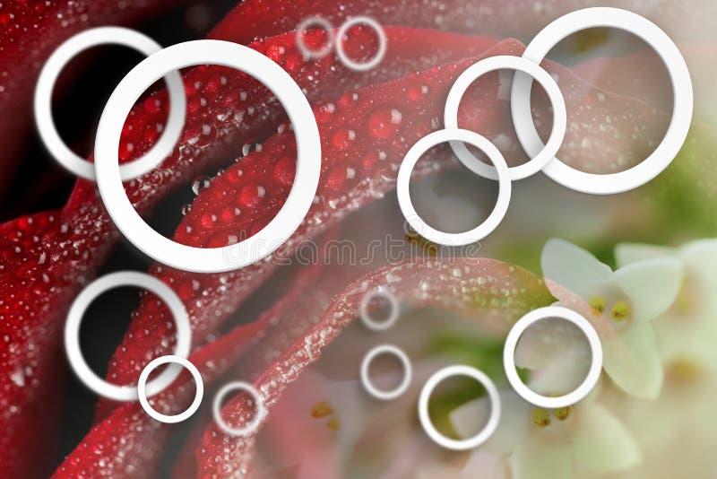 Fleurit l'abstraction Papier peint stéréoscopique de photo pour l'intérieur rendu 3d illustration de vecteur
