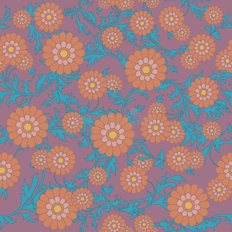 Fleurit l'ornement sans joint illustration stock