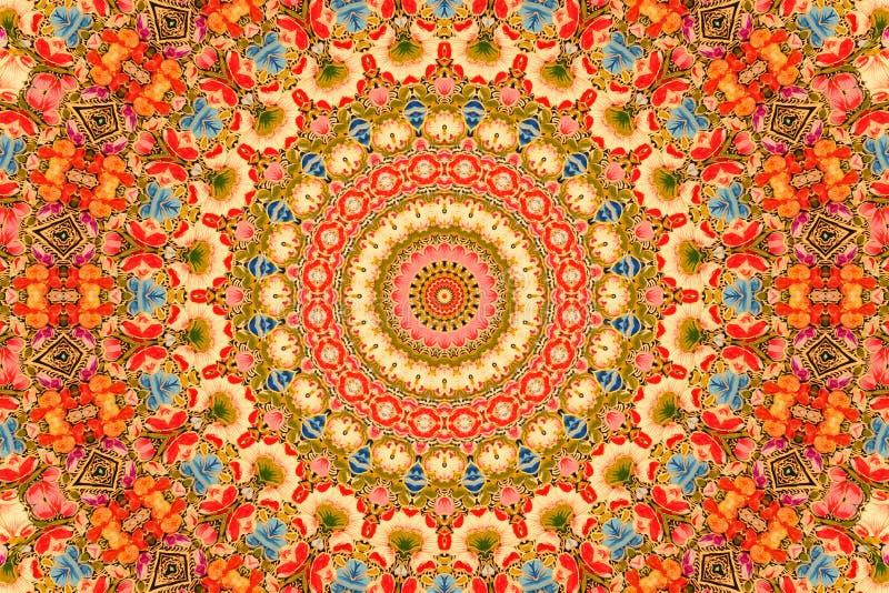 Fleurit le fond - type cachemirien photo stock