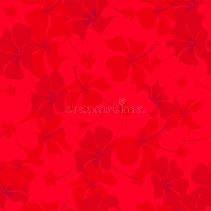 fleurit le rouge de ketmie images libres de droits