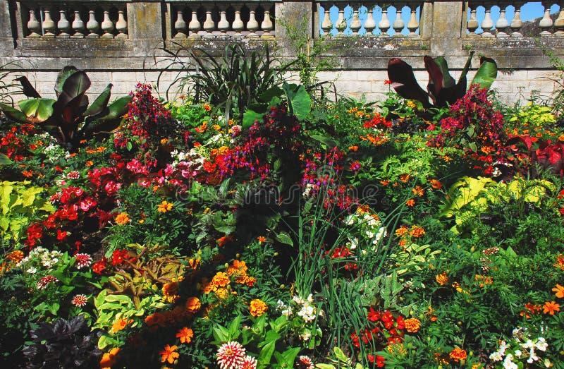 FLEURIT un jardin d'agrément admirablement coloré en France photographie stock libre de droits