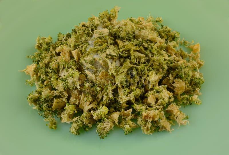 Fleurons de brocoli brûlés par congélateur image stock