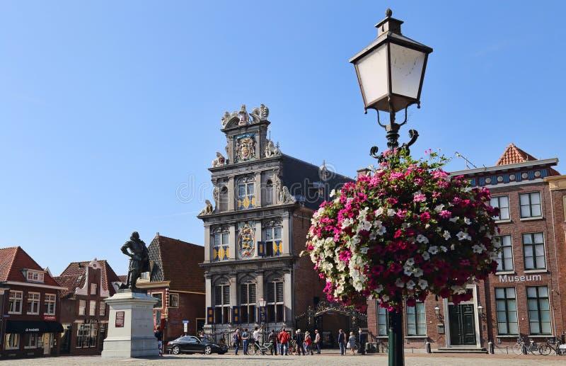 Fleurs à Hoorn, Hollande photos libres de droits