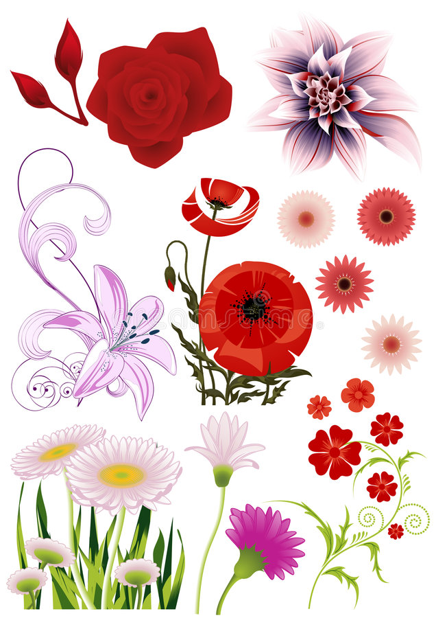 Fleurs illustration de vecteur