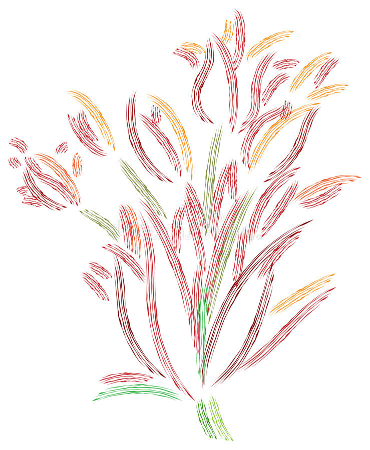 Fleurs abstraites illustration stock