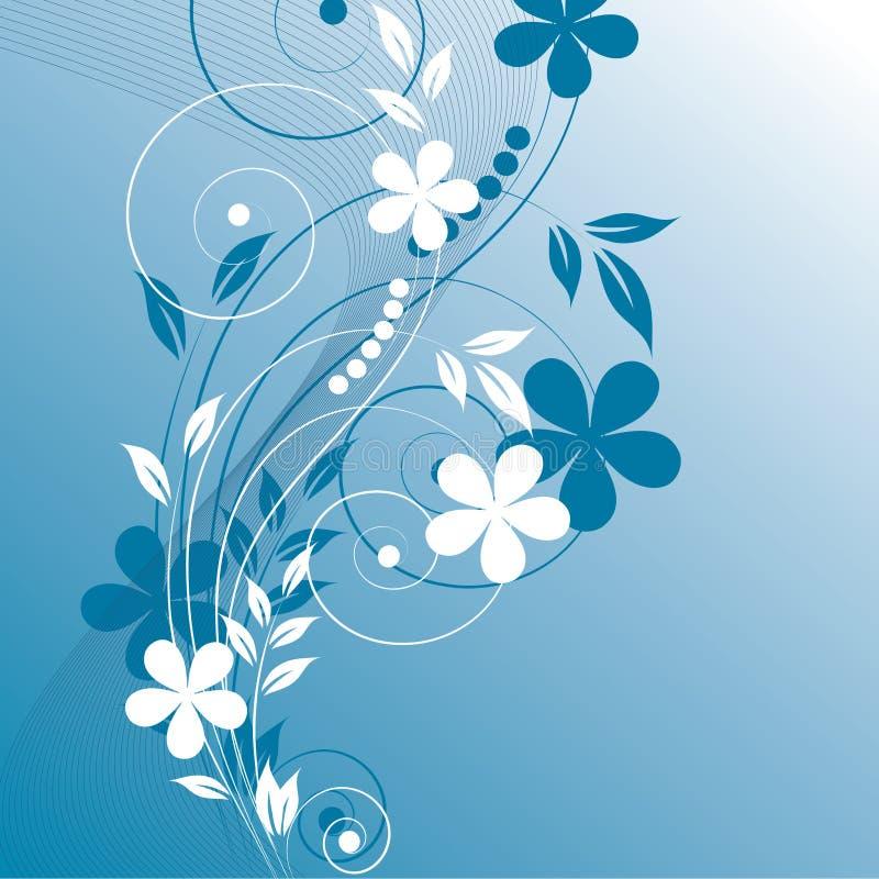 fleurs abstraites de fond illustration de vecteur