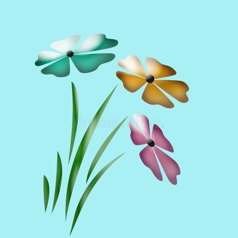 Fleurs abstraites de source illustration stock
