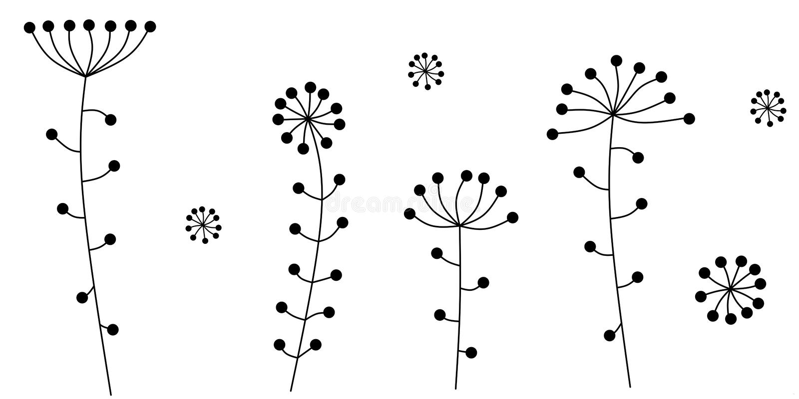 Fleurs abstraites Illustration de vecteur illustration stock