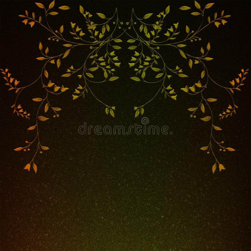 Fleurs artificielles avec des feuilles image libre de droits