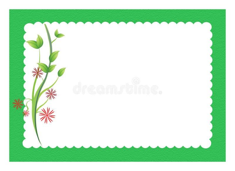 Fleurs avec le cadre cranté illustration de vecteur