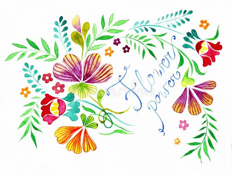 Fleurs avec le signe photos libres de droits