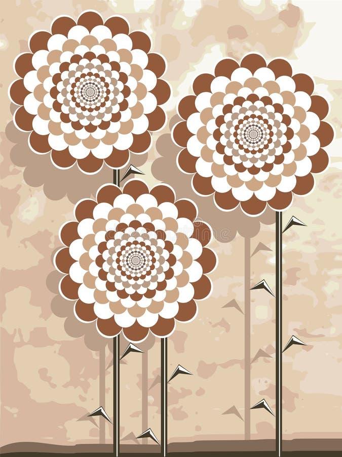 Fleurs beiges illustration de vecteur
