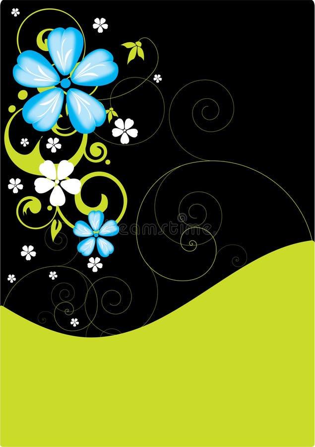 Fleurs bleues illustration libre de droits