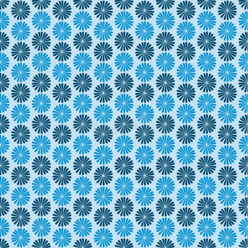Fleurs bleues, fond foncé, modèle sans couture illustration libre de droits