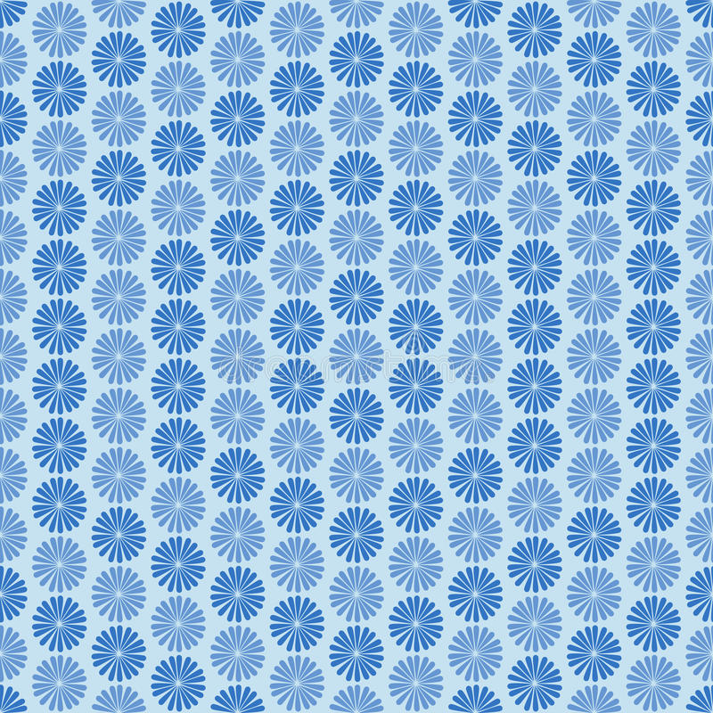 Fleurs bleues, ornement, modèle sans couture illustration libre de droits