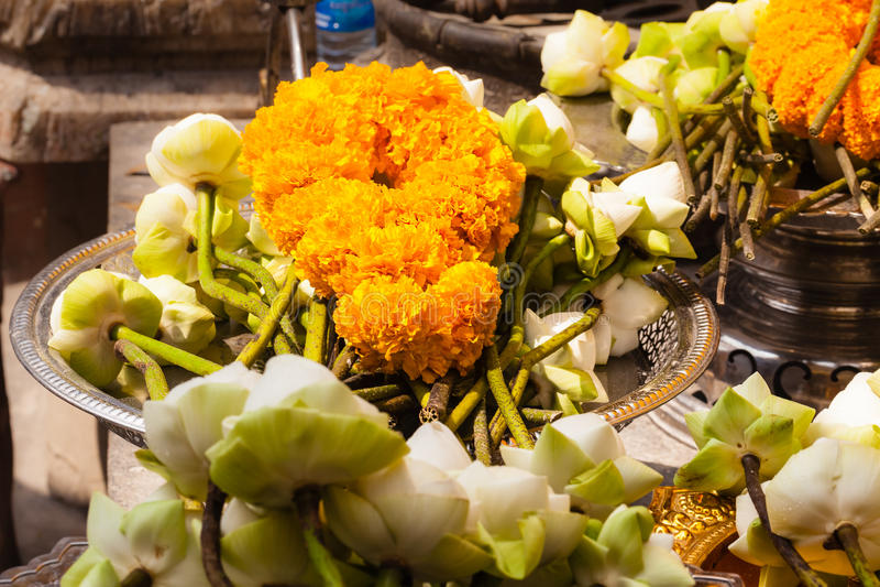 Download Fleurs bouddhistes image stock. Image du décoration, asiatique - 45360311