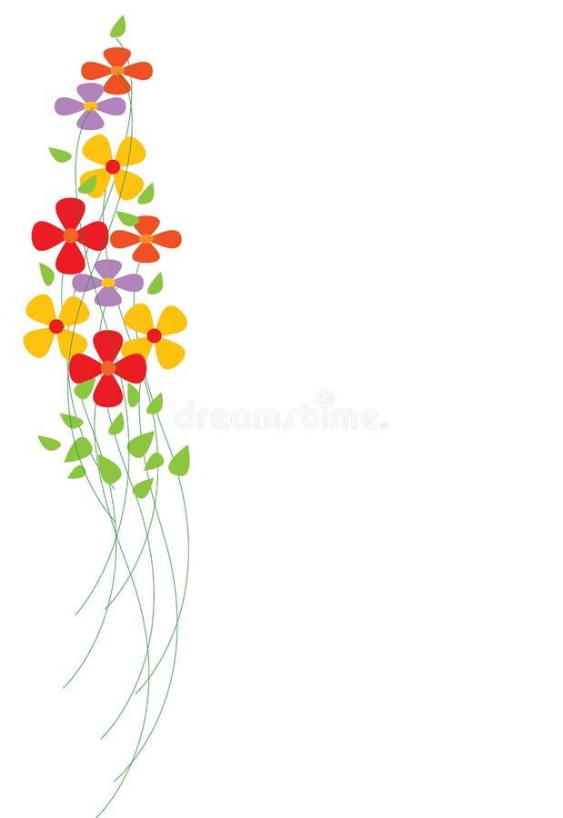 fleurs colorées illustration libre de droits