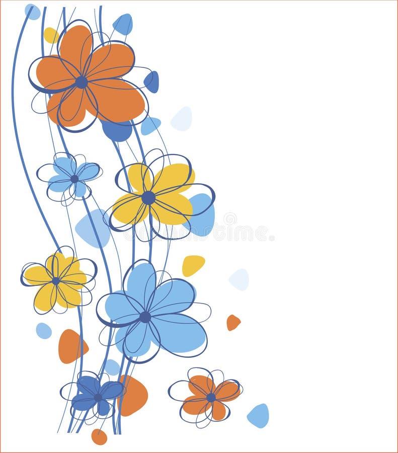 Fleurs colorées illustration stock