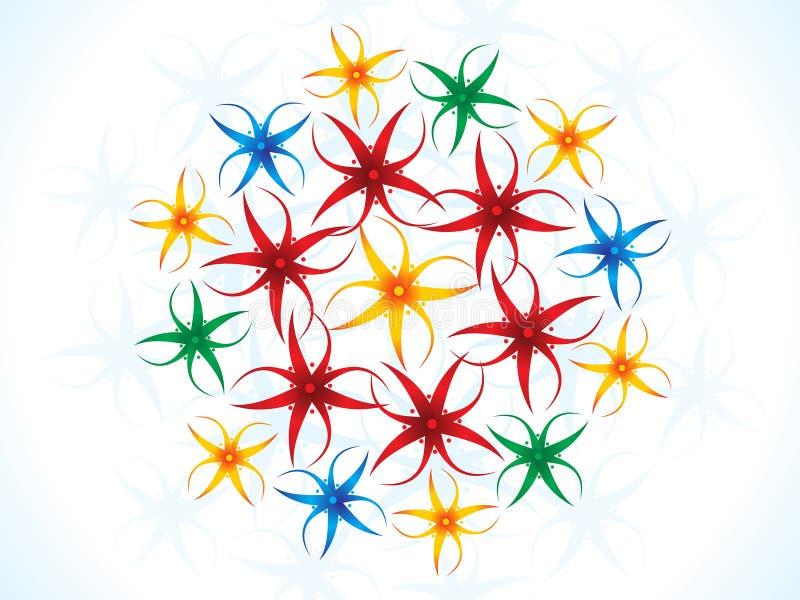Download Fleurs Colorées Artistiques Abstraites Illustration de Vecteur - Illustration du type, classique: 76087332