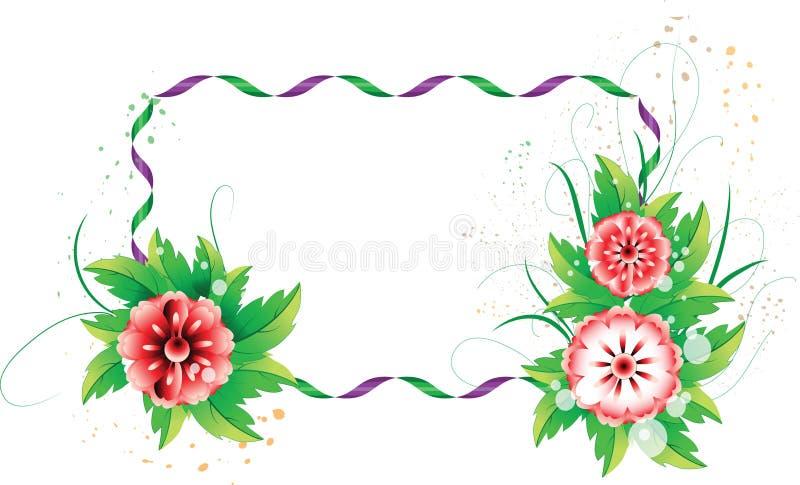 Fleurs colorées avec l'espace pour text2 illustration de vecteur