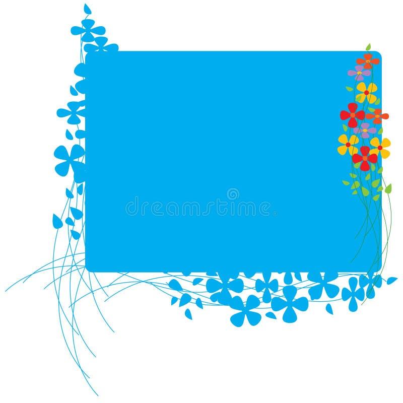 fleurs colorées de panneau illustration de vecteur